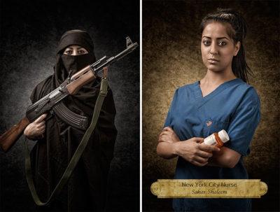 A New Yorkban ápolónőként dolgozó Sahar Shaleem. Fotó: Joel Parés