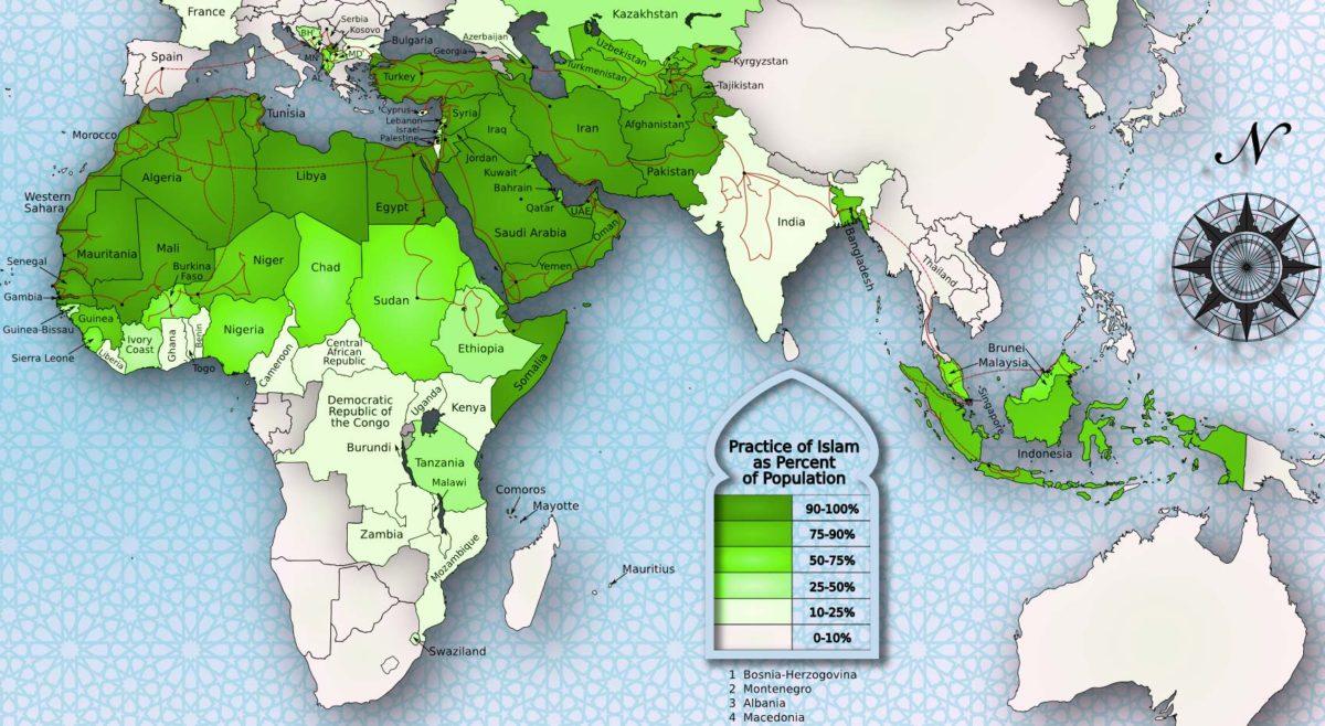 Muszlim világ vallási térképe