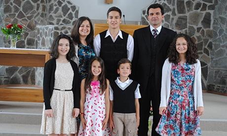 Budai Evódia családjával