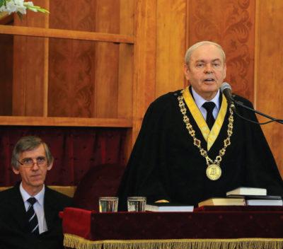 Prof. Dr. Almási Tibor, a teológia rektora